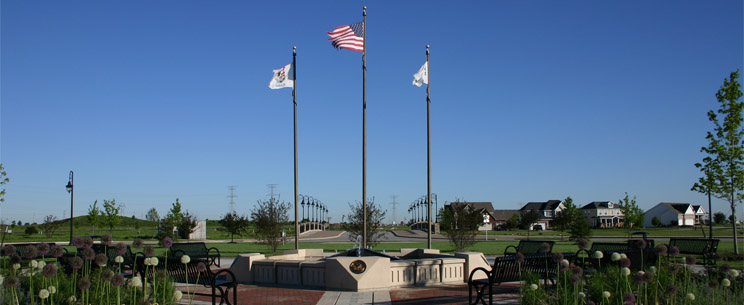 A park in the Village of Shorewood which features a plaza